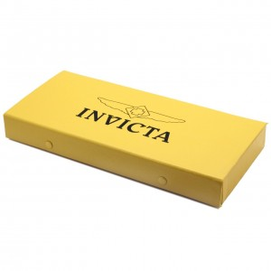 Top view of the Invicta watch repair tool kit bright yellow case