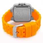 Invicta Women's Angel Silver Dial Neon Orange Rubber Quartz
