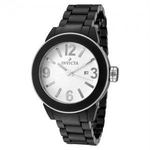 Invicta Women's Ceramic White Dial Black Ceramic Quartz 1164