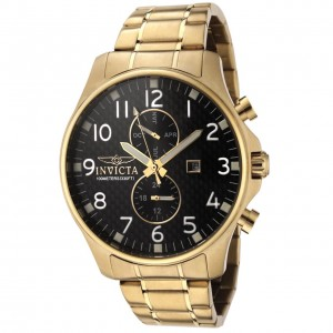 Invicta Men's Invicta II 18k Gold-Plated Stainless Steel Watch 0382