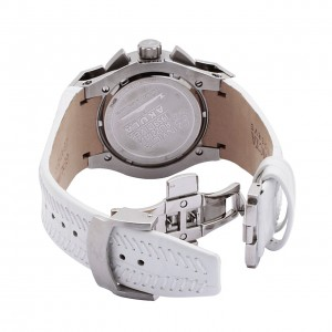 The Invicta Akula Reserve White Leather back view