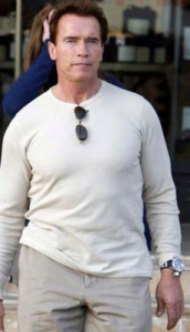 Arnold Schwarzenegger sporting Invicta Watch