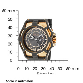 Measurements of the Invicta Reserve (0628) – 52mm in diameter and 16mm thick.