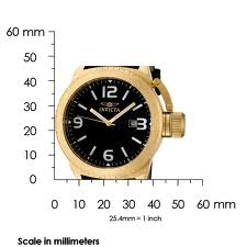 The Invicta Corduba (1111) shown with measurements.