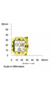 The Invicta Angel (1295) shown with measurements – 30mm tall and 30mm wide.