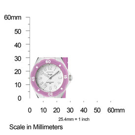 The Invicta Angel (1613) shown with measurements – showing that the case is approximately 30mm in diameter.