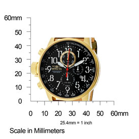 The Invicta II (1875) Shown with Measurements - 46mm in diameter and 13mm thick.