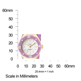 The Invicta Angel 1618 Shown with Meassurments